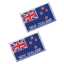 5pcs New Zealand flag the patch 3D stickers Personality Embroidery design badges customized for clothes clothing Hook/Loop 8*5CM