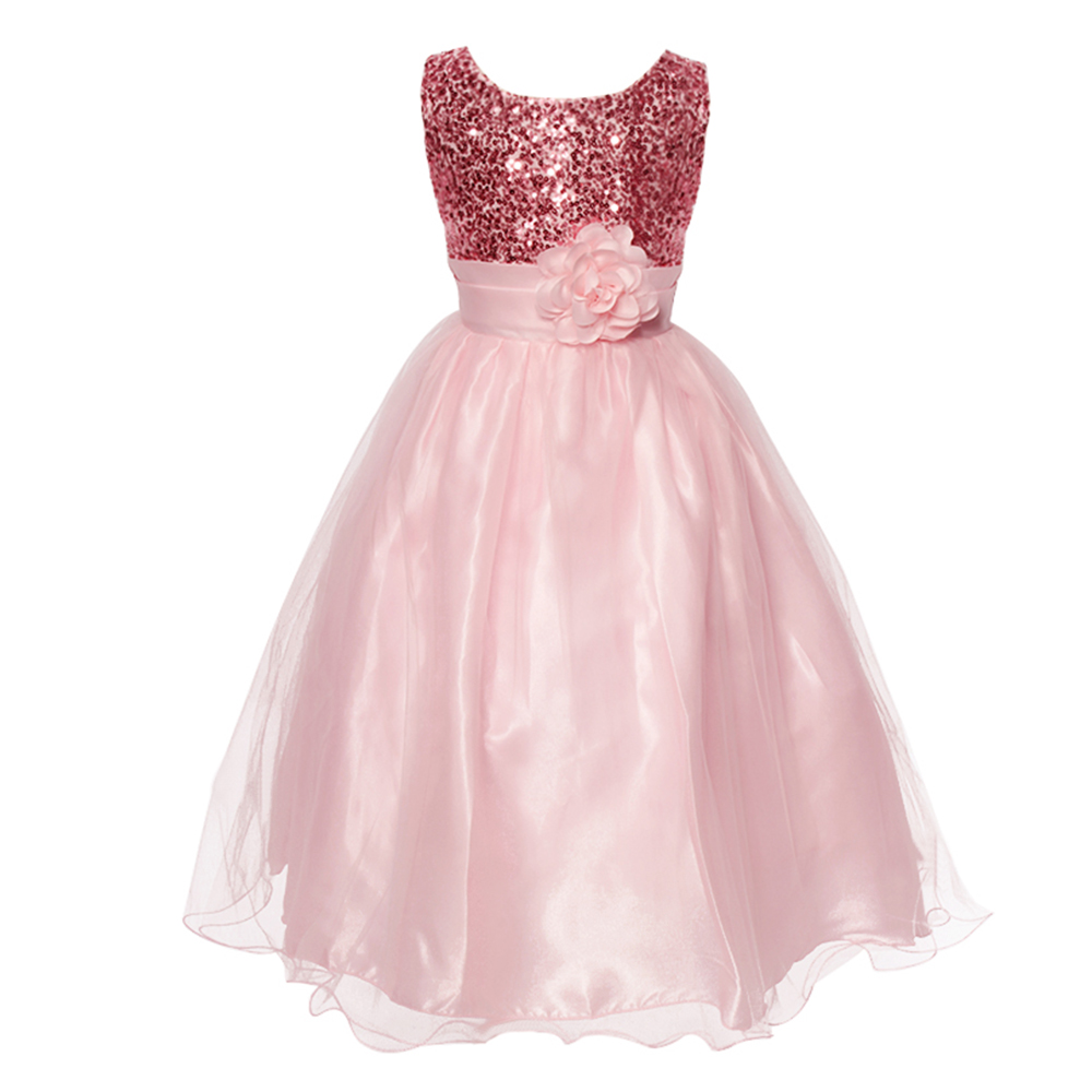 Elegant Girl Dress Girls 2016 Summer Fashion Pink green ...
