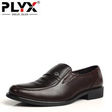 Hot Sale 2016 Fashion Men Dress Shoes Round artificial Leather Business Black/Brown Plus Size Office