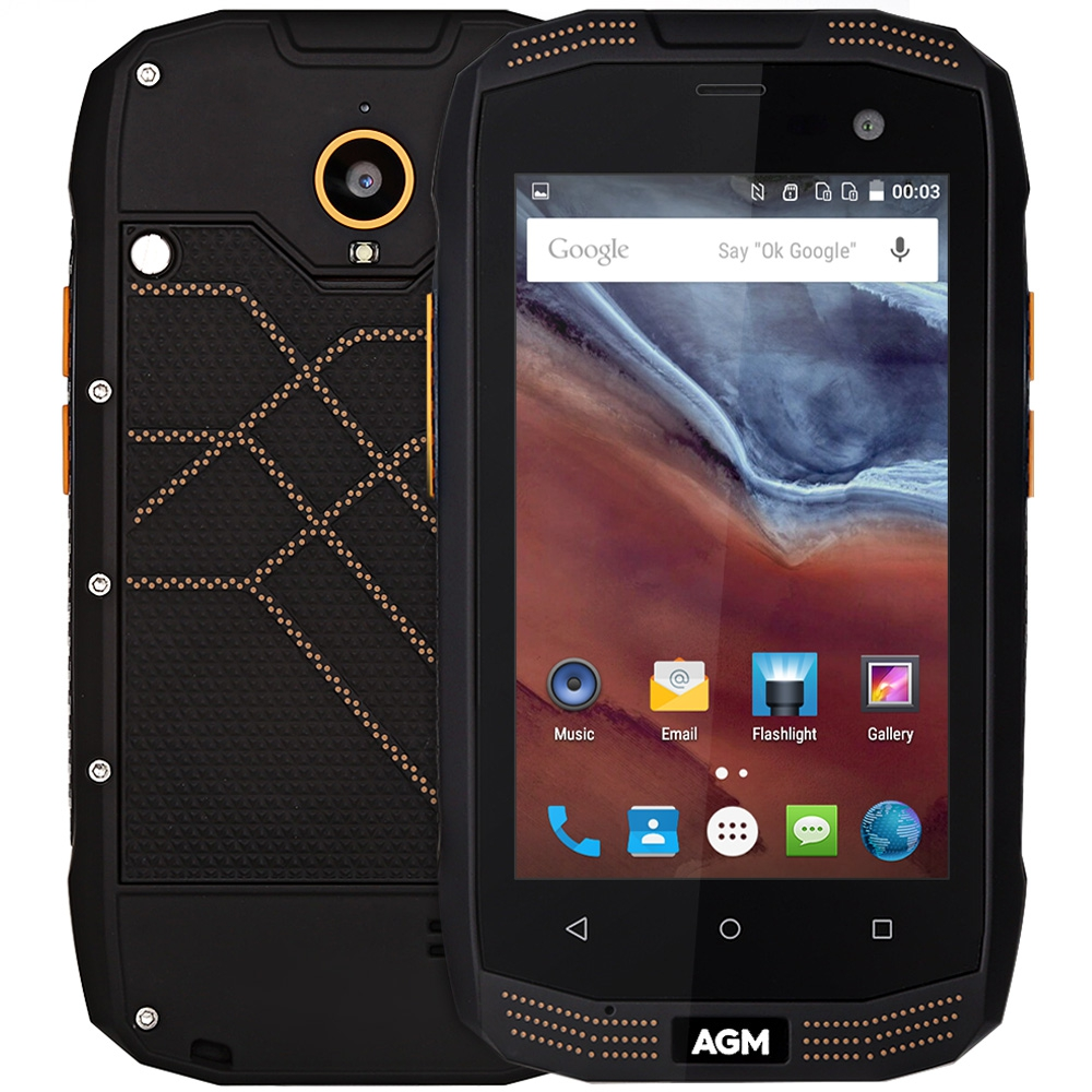 Original AGM A2 IP68 Waterproof 4G Android Mobile Phone 4.0