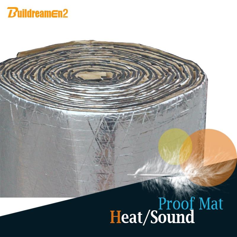 Buildreamen2 1 Roll 6sqm Car Thermal Heat Proofing Sound Shield Insulation Mat Deadener Deadening Noise Control 240 x 40
