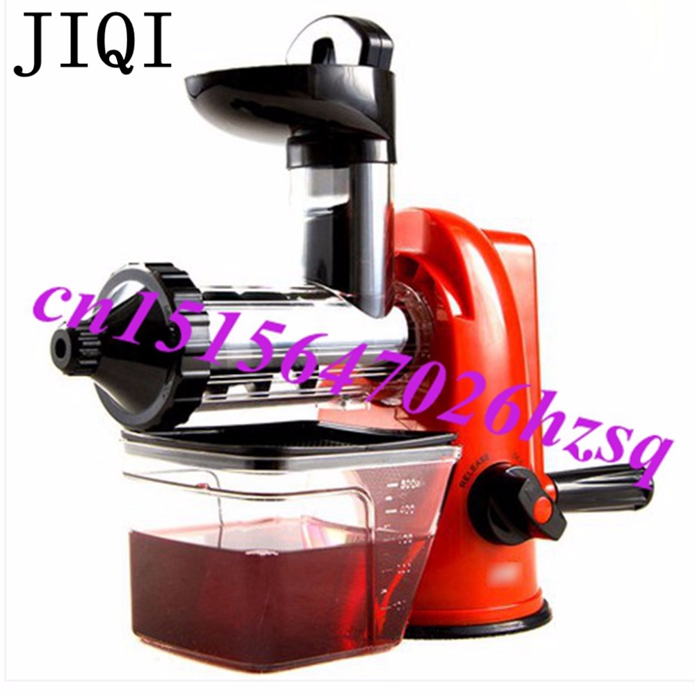 JIQI Household Environmentally Healthy  Manual Slow Orange Juicer Extractor Eletrodomestico De Cozinha machine Colorful household healthy manual slow food juicer extractor fruit vegetable wheatgrass juice squeezing machine