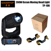 TIPTOP TP 10R Hot Sell 280W 10R Sharpy Beam Moving Head Light With O S R A M Lamp 16/24DMX Channels 8 Facet Prism Stage Light