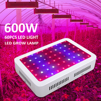 AC 85 265V 600W Full Spectrum 60LEDS Hydroponic Plant Grow Light Indoor Lamp Kit for Greenhouse Plant and Flower Veg Growth Lamp