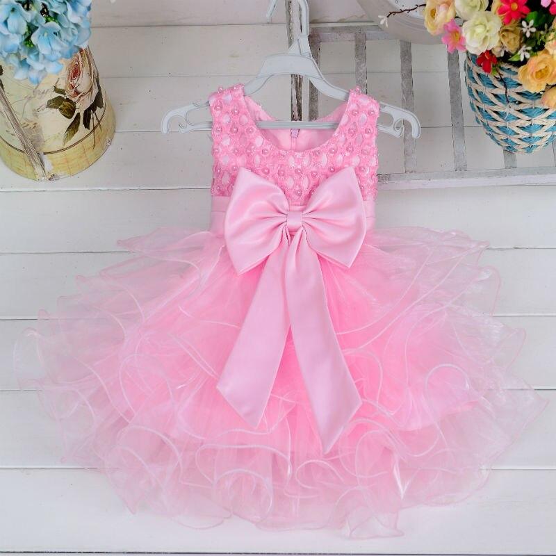 Yeni gəliş Baby Qızlar geyimləri yay qızı laylı paltar Bow - Uşaq geyimləri - Fotoqrafiya 3