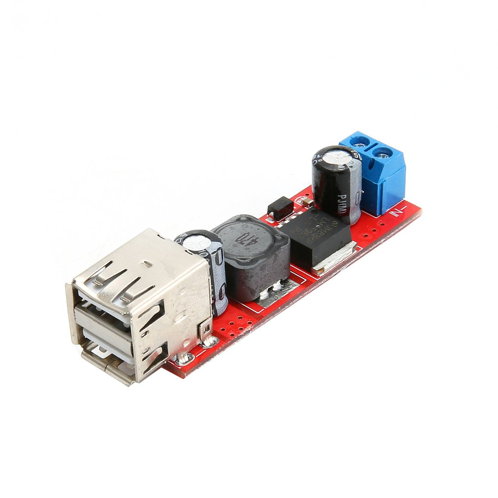 Dual USB Output Converter DC 9V/12V/24V/36V To 5V DC-DC 3A Step-Down Buck Module KIS-3R33S Voltage Stabilized Module