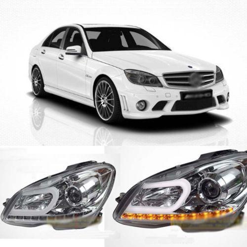 Impressive C Curve Silver LED DRL Headlight for Mercedes-Benz W204 C180 C200 230 rambach mercedes benz c 180 cgi w204 blueef 156 л с