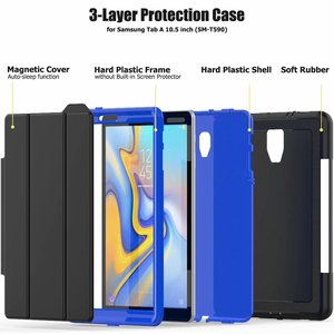 Image 4 - Full Protection Case For Samsung Galaxy Tab A 10.5 2018 SM T590 T595 T597 Safe Shockproof Heavy Duty TPU Hard Cover Kickstand