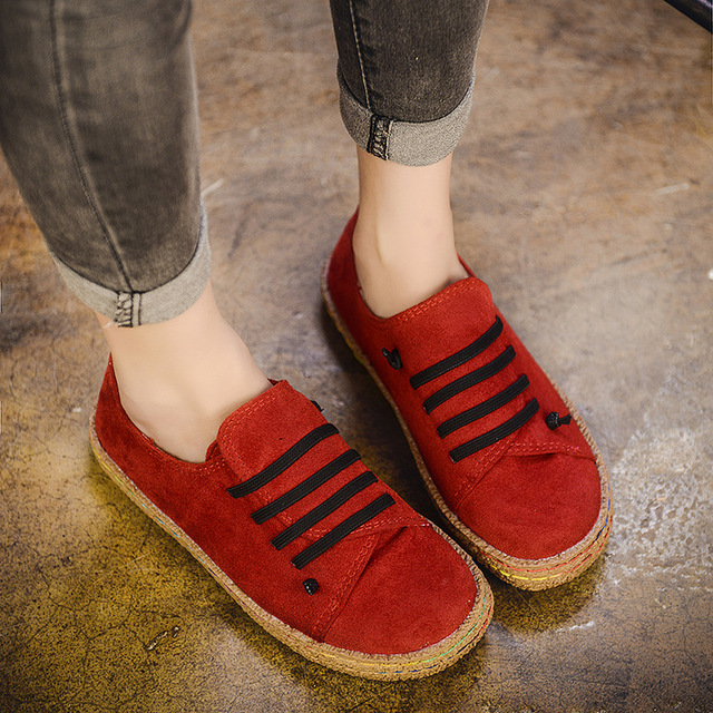 Flat Shoes Women Autumn Shoes Woman Casual Lace-up Flats Comfortable Round Toe Loafers Shoes Fashion Flat Shoes 856 1