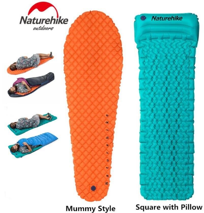 Naturehike открытый кемпинг надувная палатка коврик Мумия колодки с подушкой легкий воздушный матрас 470 г Utralight туристический коврик