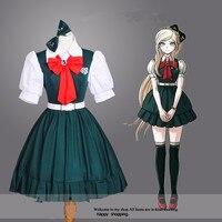 New School Uniform Cosplay Costume Wig Sonia Nevermind Costume Super Danganronpa 2 Anime Costumes