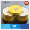 10 Peças/lote 100% Algodão Puro Algodão Beleza Branco Amarelo Roda Lustrando Polimento Burs Dental Lab Jóias Fabricação de Ferramentas