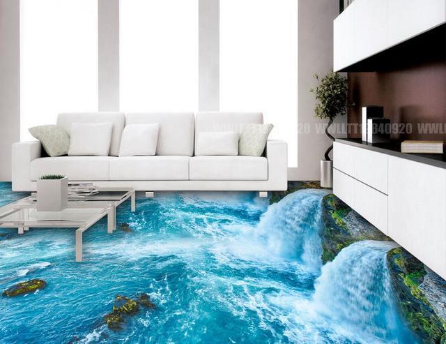 US $54.89 |Benutzerdefinierte 3d tapete schlafzimmer wand rolle 3d boden  selbstklebende tapeten Ozean Welt 3d bodenfliesen 3d tapete vinyl in ...