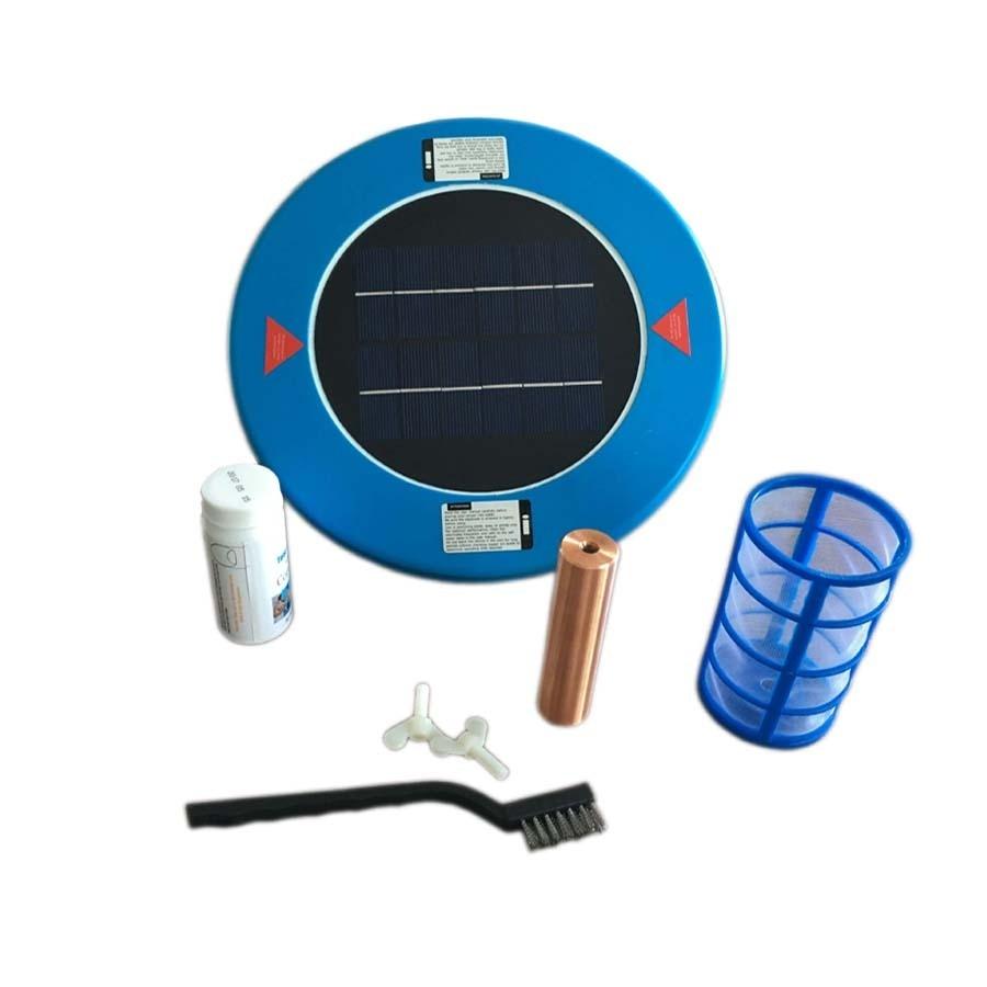 Solar Powered Purifier Ionizer Save on Pool Chemicals and Chlorine Kills Algae