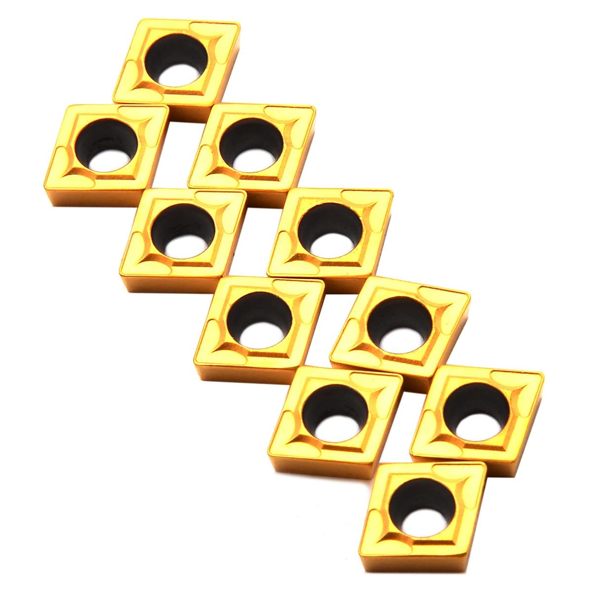 10Pcs CCMT060204-HM YBC251 Lathe CNC Carbide Insert For Lathe Turning Tool