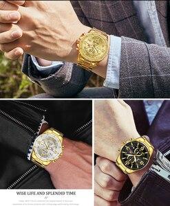 Image 5 - Mini foco real dos homens relógios marca superior de luxo militar quartzo à prova dwaterproof água cronógrafo aço inoxidável cinta relogio masculino