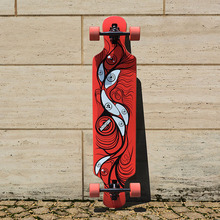 KOSTON pro longboard completes 41inch drop through style long skateboard completed set for cruising purpose ideal