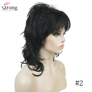 Image 5 - StrongBeauty Synthetic Wigs for Women Natural Hair Ombre Blonde/Brown Highlights Medium Curly Layered Capless Wigs Cosplay