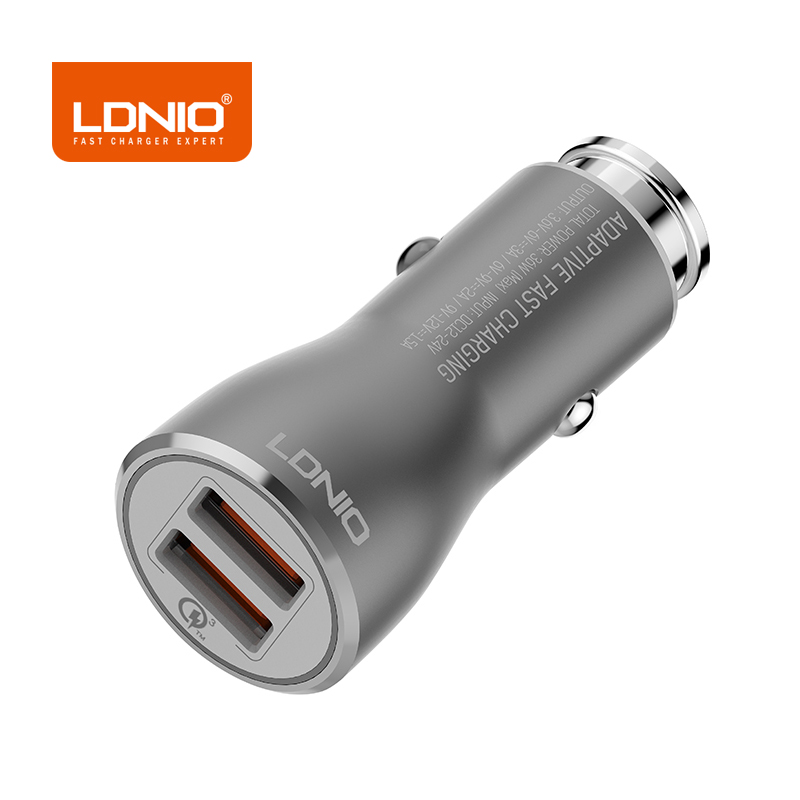 LDNIO 12-24V Dual Ports USB Car Charger Charging Adapter For Samsung Galaxy S8 Xiaomi Smart Mobile Phones