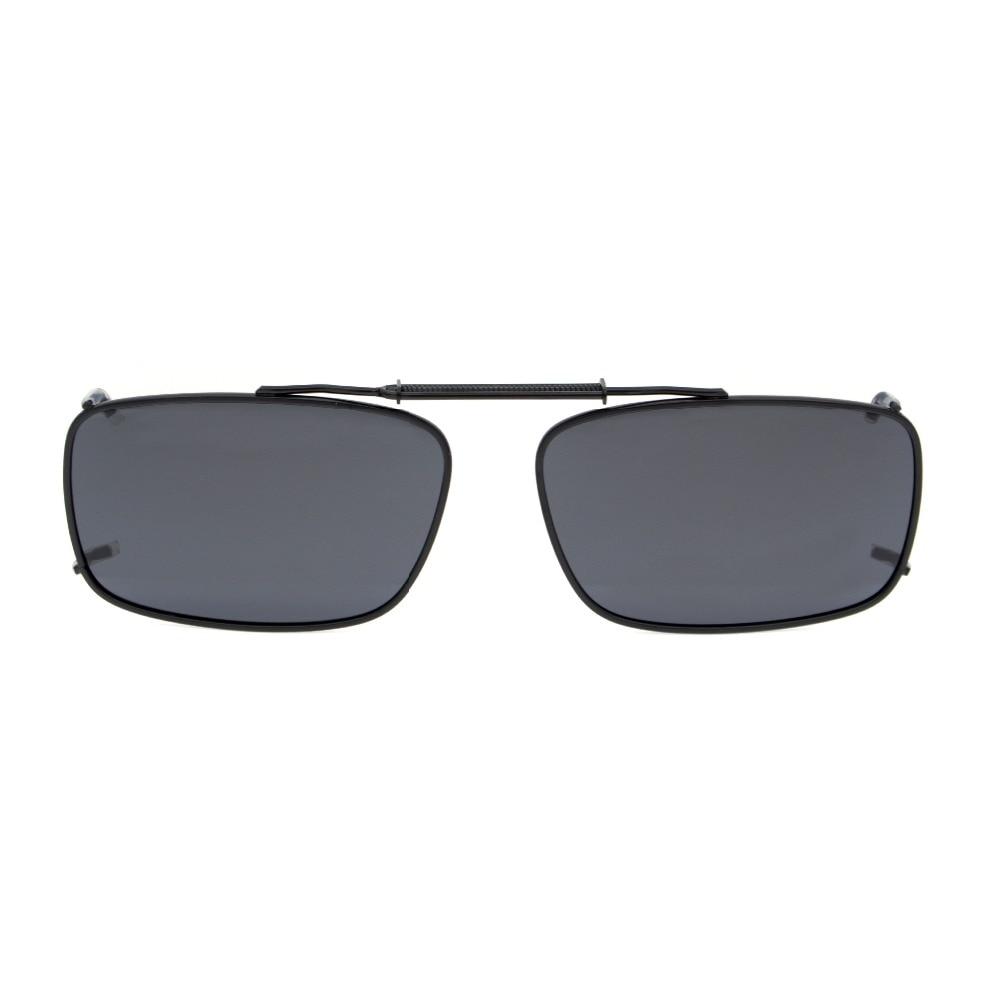 C61 Eyekepper Metallram Rim Polariserad Lins Clip på Solglasögon 54 * 34MM