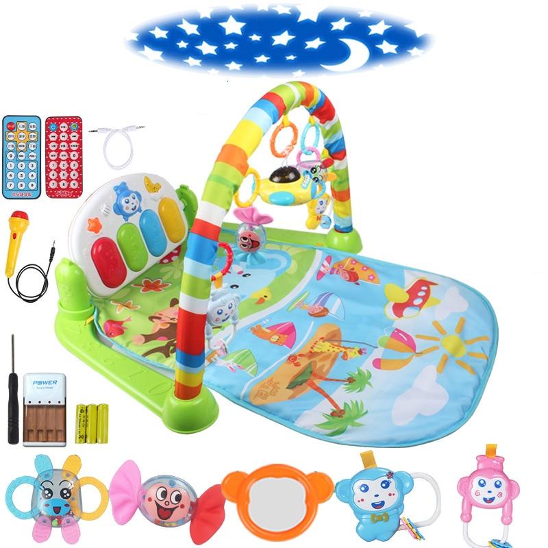 Bébé Piano musique Gym tapis jouets activité infantile enfants jouets sport Playmat jouets éducatifs Rack Gym doux bébé jouer tapis 0-36months - 2