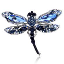 New Hot Insect Dragonfly Rhinestone Pins Badge Brooches For Women Men Fashion Jewelry Retro Boutonniere Hijab Pins Broszka AZ89(China)