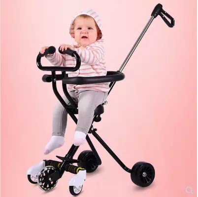 Children's trolley light folding tricycle baby stroller