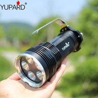 YUPARD 5x XM L2 T6 led Taschenlampe Rampenlicht Suchscheinwerfer taktische camping 7000Lm + 4*2200 mAh 18650 Batterie + ladegerät-in LED-Taschenlampen aus Licht & Beleuchtung bei