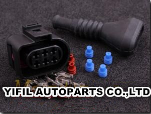 100pcs lot Connector 6 way pin socket housing for LSU 4 2 wideband sensor with rubber