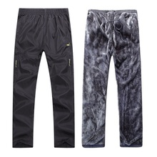 Winter pants Fleece thermal trousers men keep warm in cold days anti wind size L to
