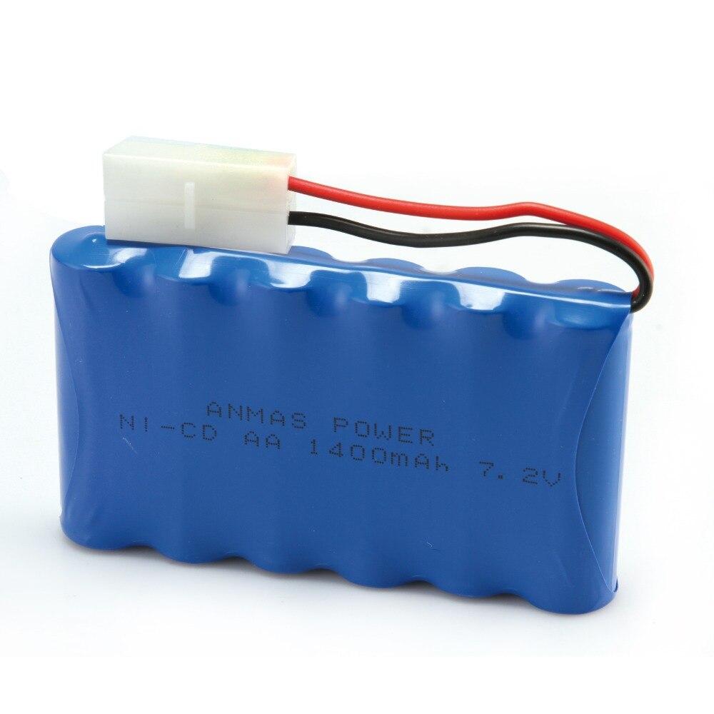 1x poder de Anmas azul recargable ni-cd AA batería 7,2 V 1400 mAh RC ni-cd AA juguete batería ni-cd Tamiya Plug
