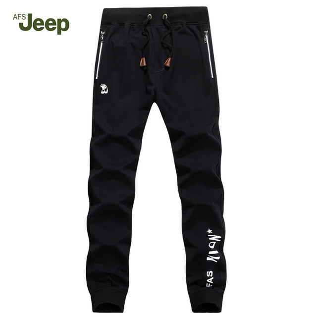 Male Pants 2017 AFS JEEP Leisure Trousers Spring Pants Youth Breathable Straight Elastic Pants Han edition tide Pants 75