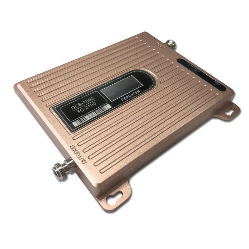 Amplificateur de signal celulaire double bande 3g à affichage LCD 1800/2100 mhz, répéteur de signal mobile pour téléphone portable DCS wcdma, amplificateur de signal 4G