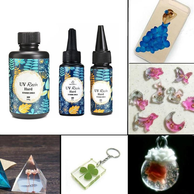 UV Resin Glue Clear Gel Hard Type Solar Ultraviolet Solidify Cure Resin Activated Crafts For DIY Jewelry Mold Glue