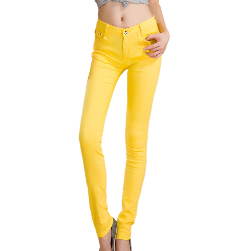 Luxury  Twill Ski Pants  YellowYellow Twill Women39s Activewear  47KS6242
