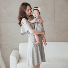 2019 New Fashion Women short sleevele Maternity Dresses Pregnancy Cartoon Family match Nusring Baby mather daughter boy Summer