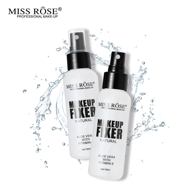100ml MISS ROSE Brand Make Up Set Face Foundation Finish Setting Spray Fixed Makeup Fixer Aloe Vera Mist Atomizing Cosmetics image