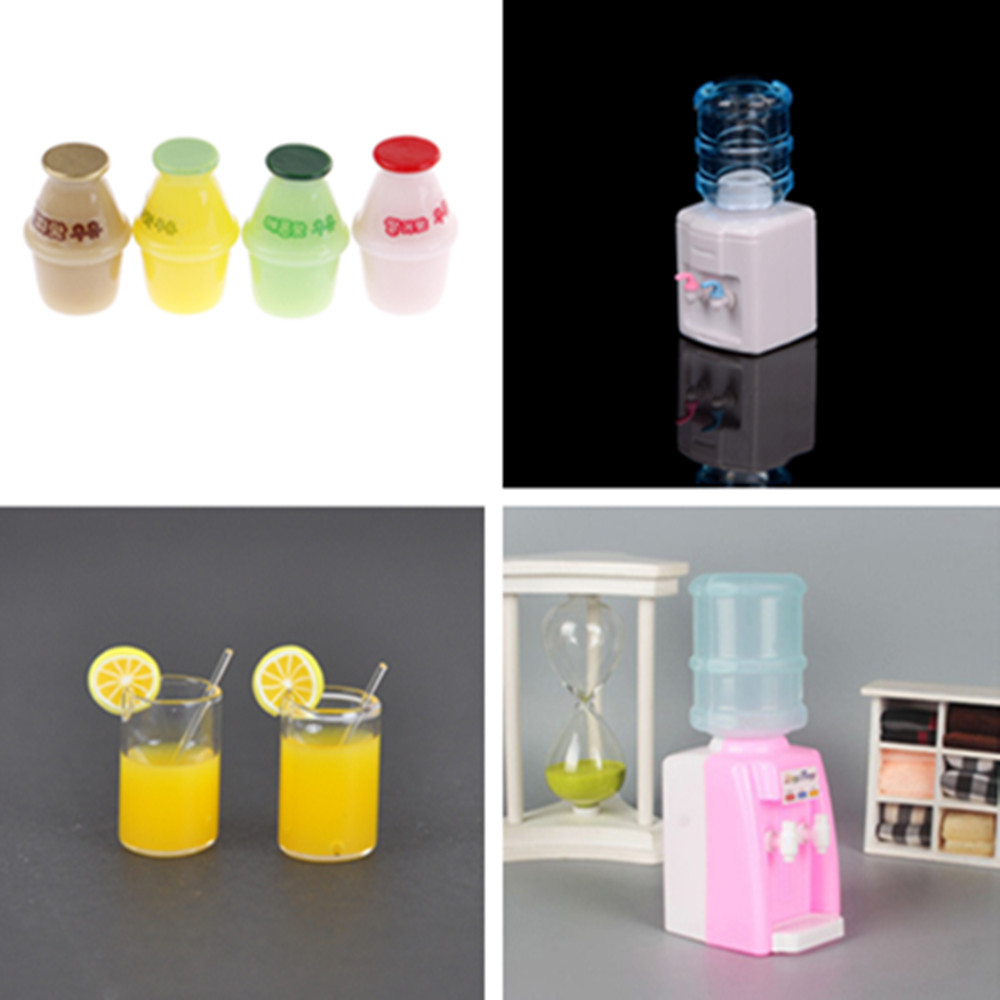 1:6 1:12 Scale Cups Drinking Fountains Dollhouse Miniature Furniture Toy Doll Food Kitchen Living Room Accessories