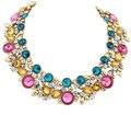 Accesorios de corea del boutique de lujo de Europa de moda de lujo joya Flash perfora superventas de cristal collar de la vendimia 985