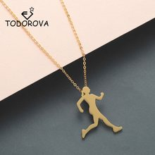 Todorova Runner Necklace Men Body Figure Sports Athlete Walking Jogging Necklace Running Women Silhouette Pendant Necklace(China)