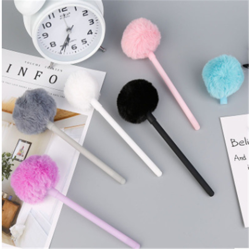 1pcs Cute Panda Gel Pen Colorful Plush Pen School Office Supplies Kawaii Novel Creative Gifts For Girls Gift Writing Tools