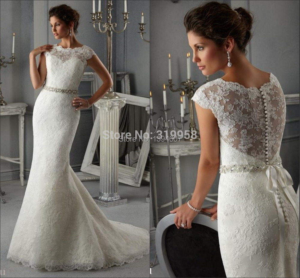 2015 The best QualityFree Custom Made New Cheap Lace Mermaid Long ...