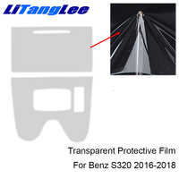 Litanglee For MERCEDES CLS260 2016 TPU Center Console Transparent Interior Protective Film Refit Sticker Car Styling