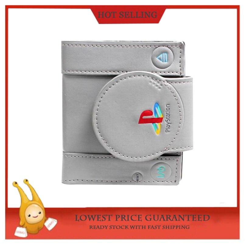 Playstation Karte.Sony Playstation One Konsole Bi Falten Brieftasche Pu Gute Qualität Grau Dünne Brieftasche Männer Karte Halter