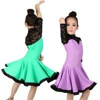 Girls Kids Latin Ballroom Dance Dress