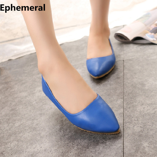 e46ddd5c243e Ladies flats loafers pointed toe soft bottom women shoes size 14 13  comfortable slip-on