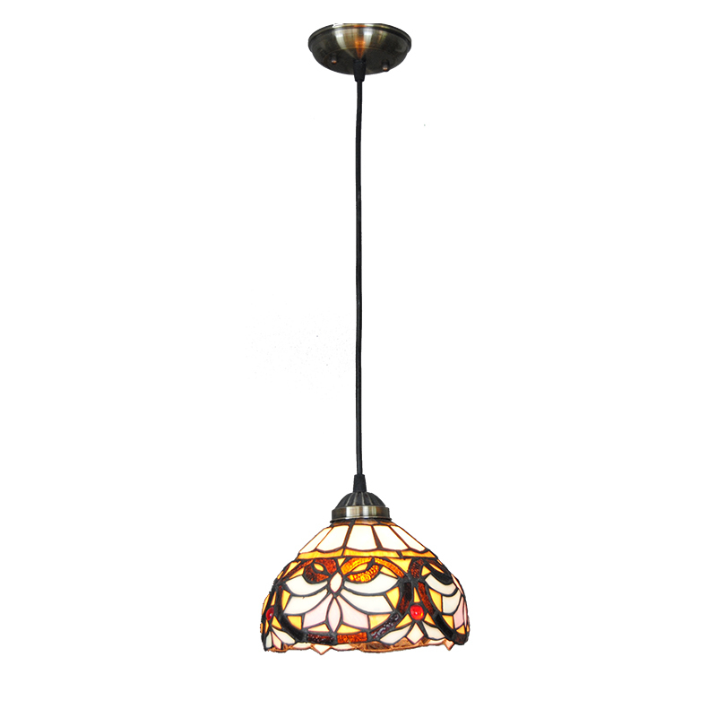 Creative Stained Glass Lamp European Style Art Glass Lampshade Pendant Lights Living Room Hotel Bar Kitchen Light Fixtures PL736 fumat stained glass pendant lamps european style baroque lights for living room bedroom creative art shade led pendant lamp