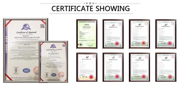 certificate of solar water pump