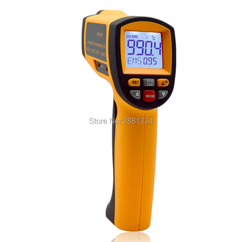 Handheld Infrared IR Thermometer GM2200 Temperature Range 200~2200 C 0.1 To 1.00 Adjustable Temperature Meter Tester (5)