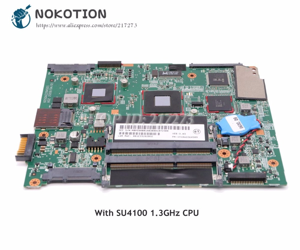 NOKOTION For Acer aspire 3810T 3810TZ Laptop Motherboard MBPCR0B014 1310A2264509 MAIN BOARD SU4100 1.3GHz CPU DDR3